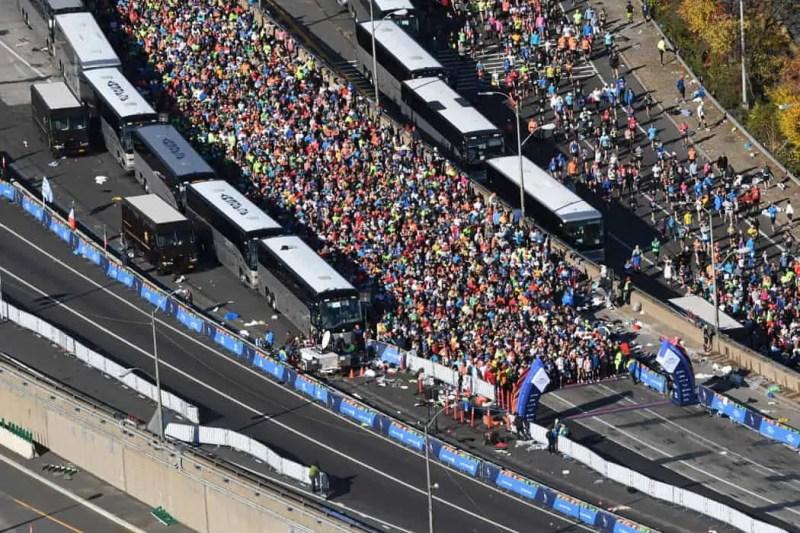 Runners alla maratona di new york