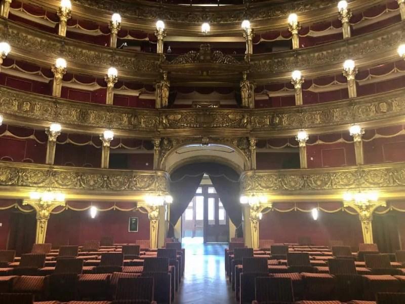Interno del Teatro Carignano a Torino