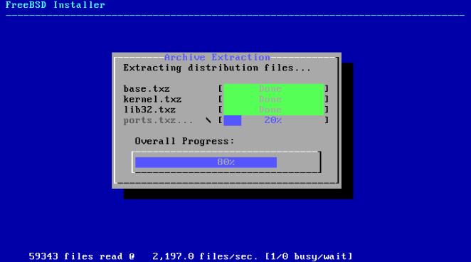 FreeBSD - extraindo arquivos do sistema
