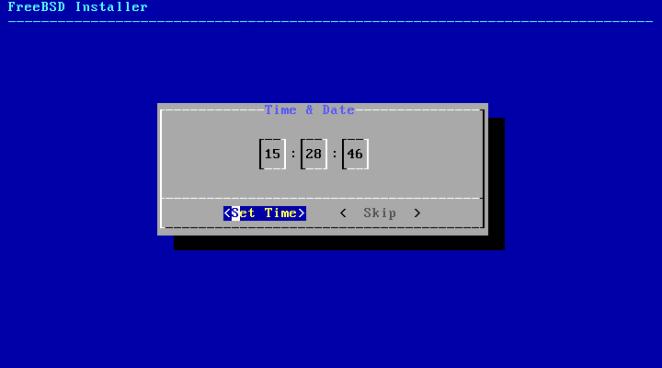 FreeBSD - configuração de hora