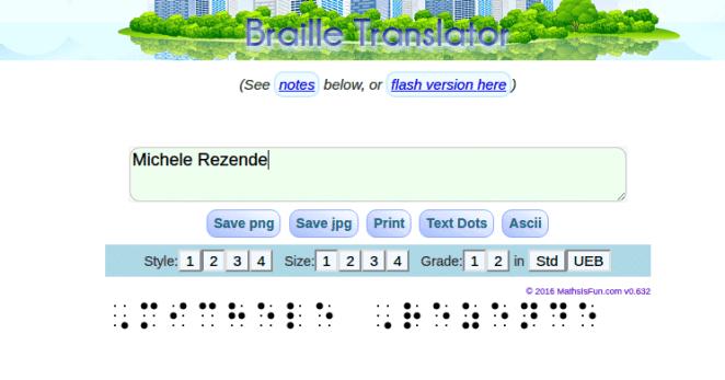 Braille Translation – Transforme textos em braille num