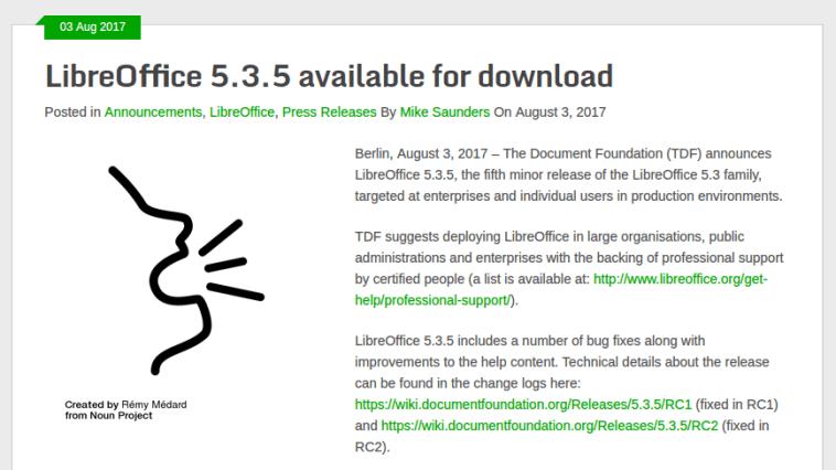 LibreOffice 5.3.5 LibreOffice