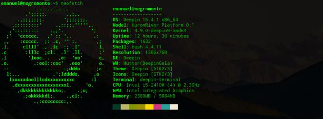 neofetch informações linux hardware cpu gpu desktop memória ram placa de vídeo