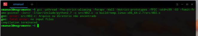 Fatal error: Python.h: No such file or Directory Python