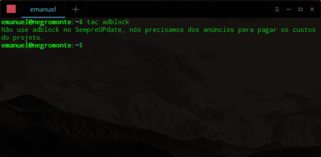 curso administração de sistemas linux comando tac terminal