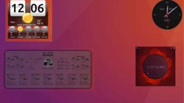 Widgets de Relógio e Clima para Linux
