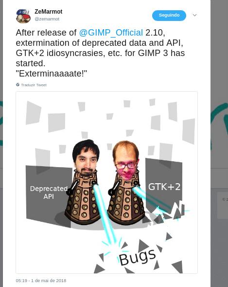 Gimp desenvolvedores