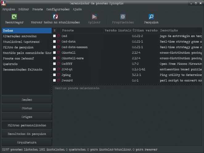 Reconhecer o Moto G4 Play no Debian Stretch Xfce - Synaptic.