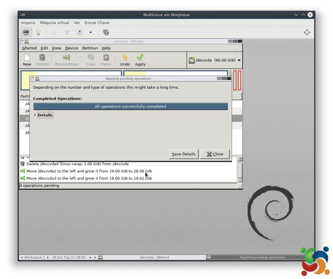 MultiLinux - GParted - GParted 13