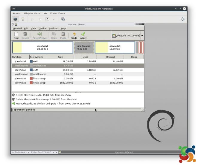 MultiLinux - GParted - GParted 7