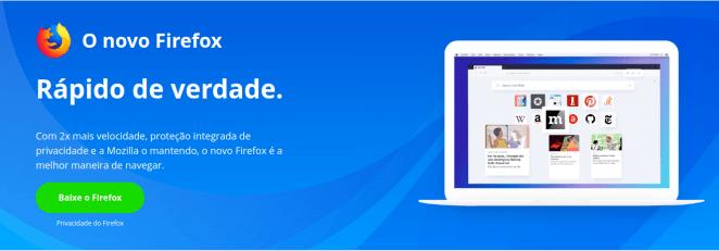 Firefox vai isolar sites para ser mais seguro.
