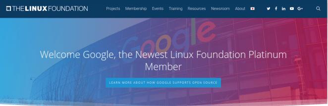 Google é agora um membro Platinum da Linux Foundation