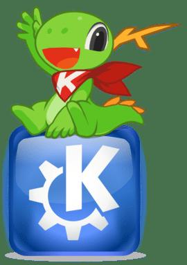 Instalar o KDE Plasma no FreeBSD - Logo e mascote do KDE
