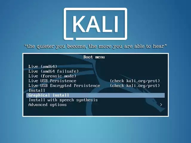 Kali Linux - Kali Boot