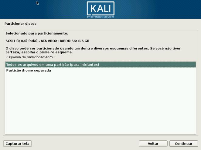Kali Linux - Particionamento Assistido (para iniciantes)