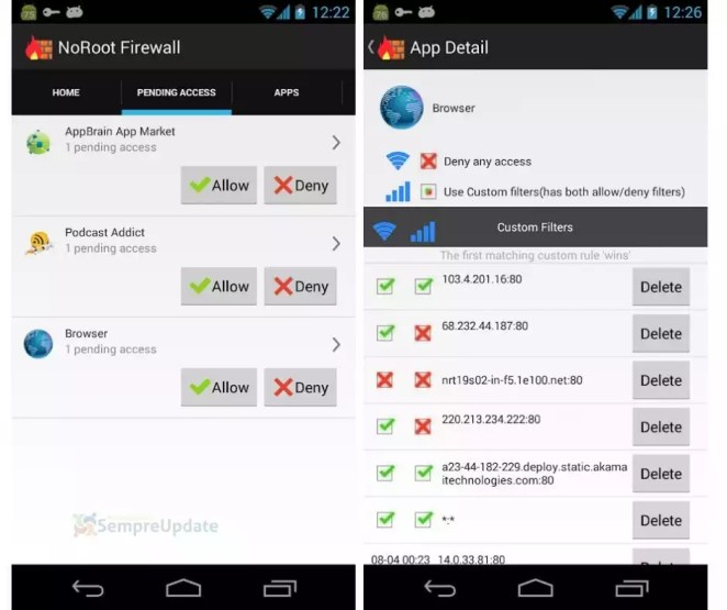 Como bloquear sites no android - noroot firewall
