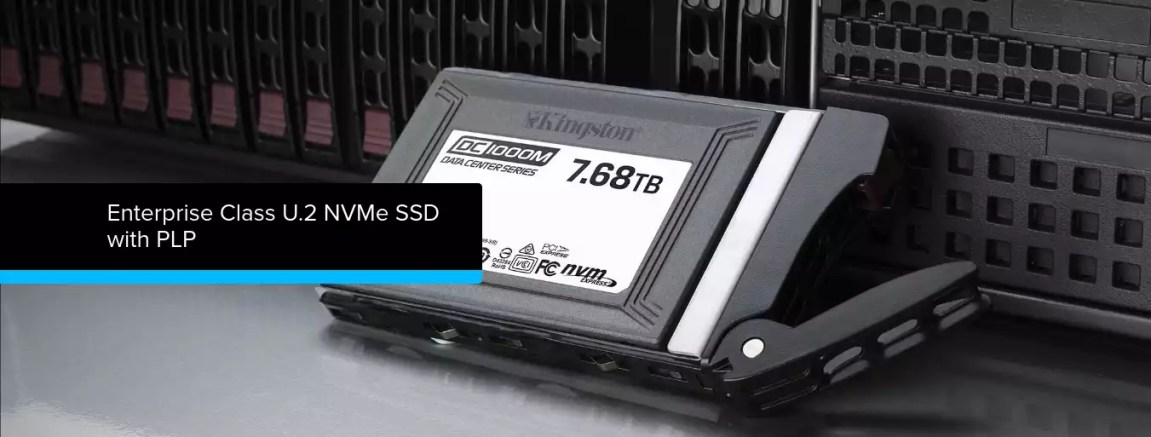 Kingston lança SSD NVMe empresarial de 960 GB a 7.6 TB