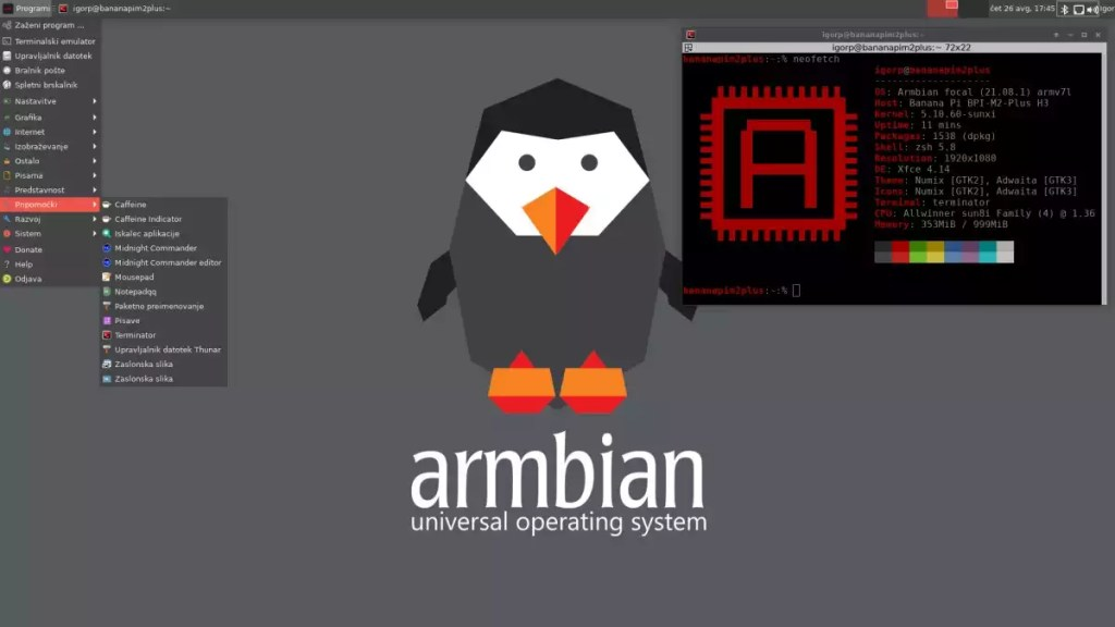 Armbian 21.08 lançado com os desktops Xfce, Cinnamon e Budgie