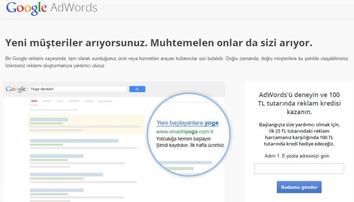 adwords kuponu