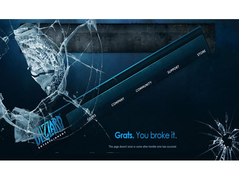 blizzard 404 Sayfası
