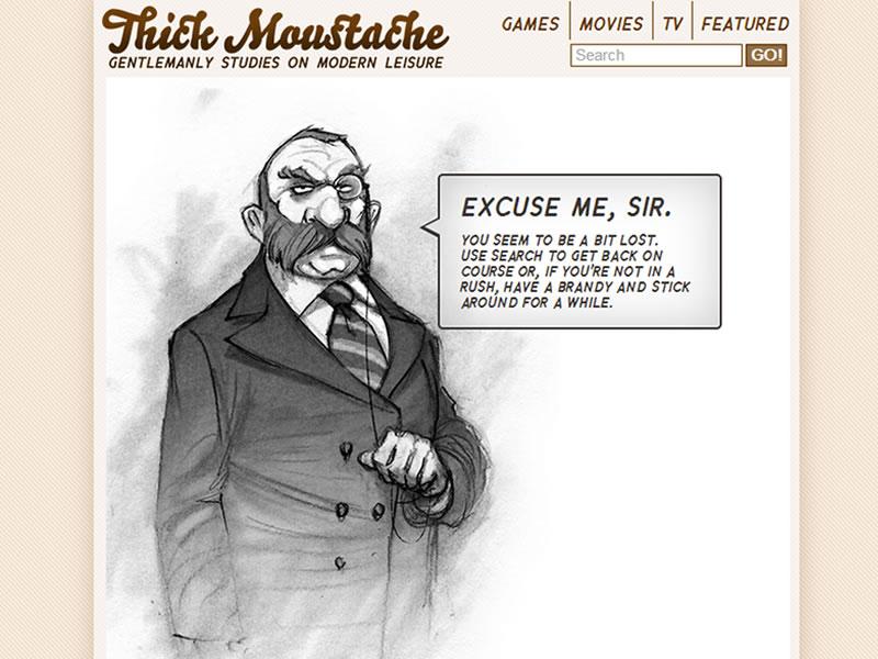 thick moustache 404 sayfası