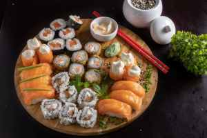 assorted japanesse food