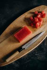 diced tuna meat