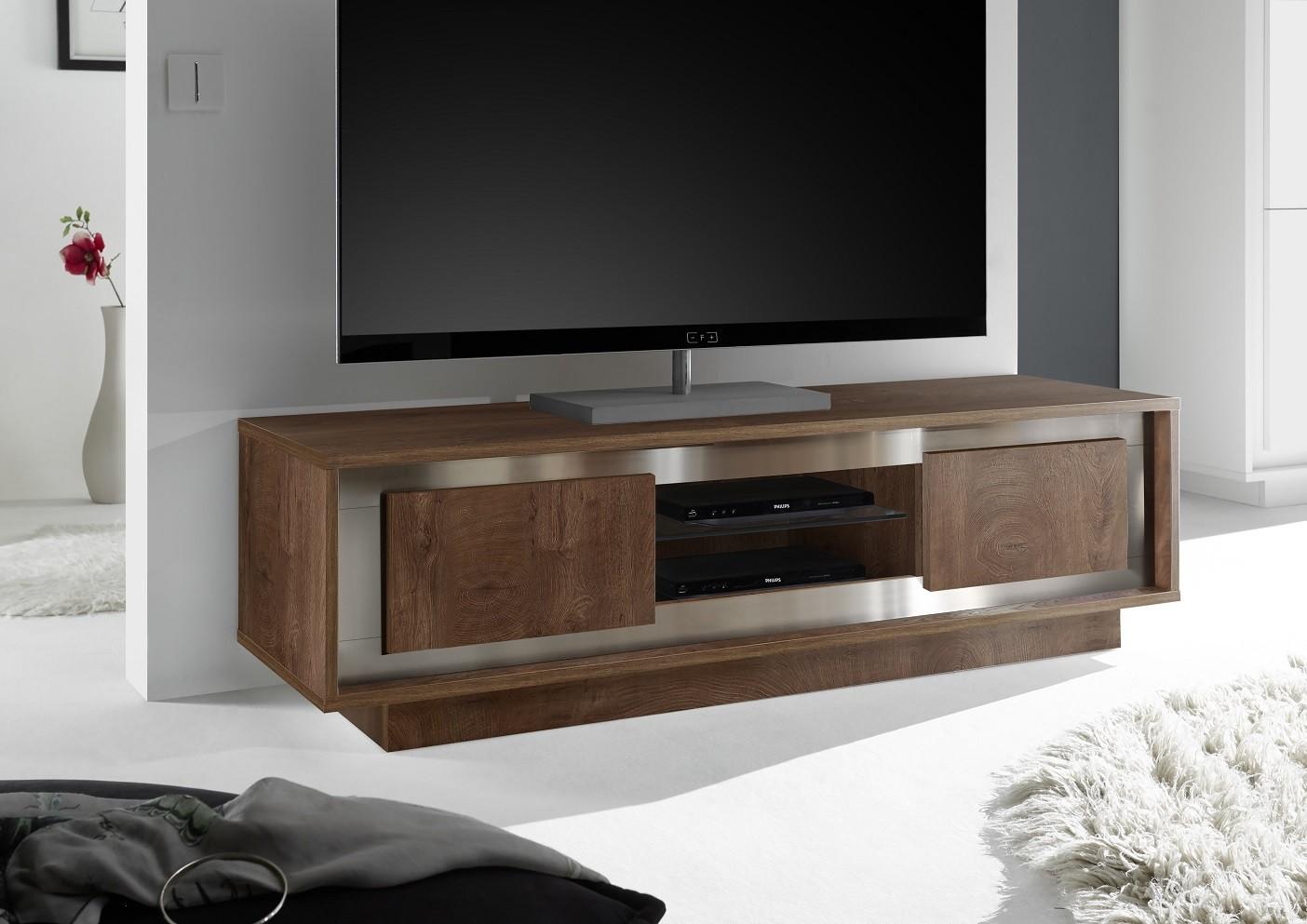 Amber modern TV Stand in oak cognac finish  Furniture by