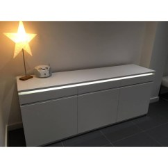 Quality Sofa Bed Uk Coasters Orde White High Gloss Sideboard With Lights - Sideboards ...