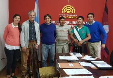 El senador por capital participó de una sesión del Concejo Deliberante de San Lorenzo