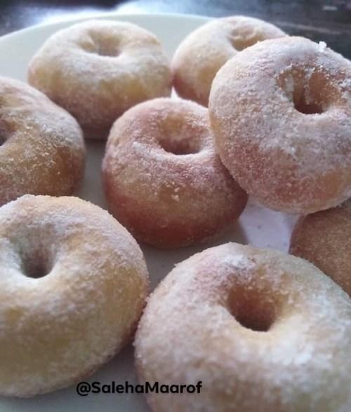 Resepi Donut Gebu Gebas, Hanya Guna 4 Bahan Jer