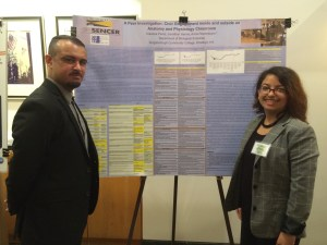Jonathan Hanna and Kiareixa Perez of Kingsborough Community College Presenting Poster at Ecosystem of Science Communication Meeting