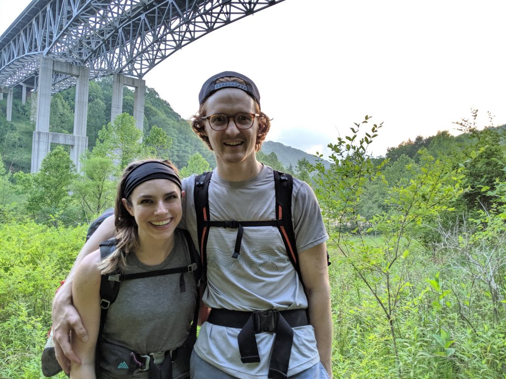 Mike and Lauren new River Gorge