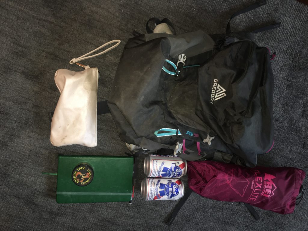 backpack and outdoor packing