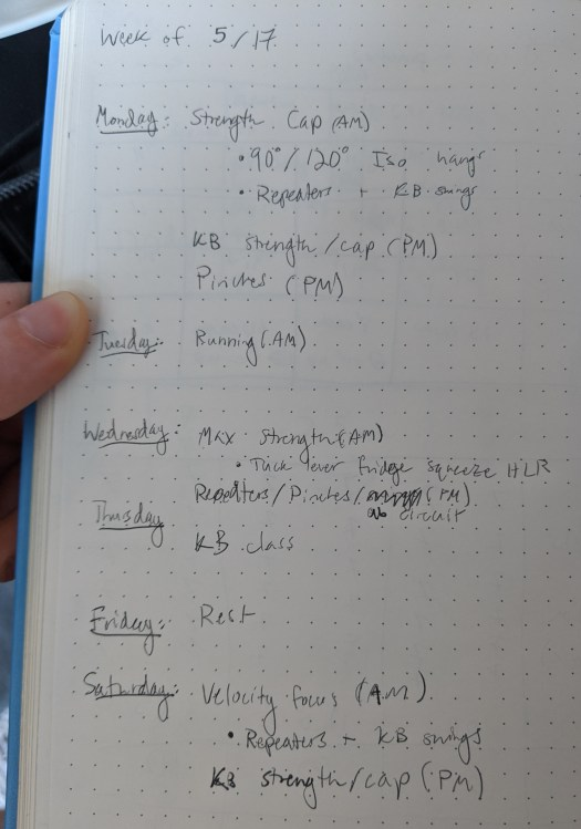 training notebook