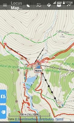 Mapa Locus de zona de Núria