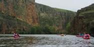 ruta en piraguas por las hoces del río duratón Segovia