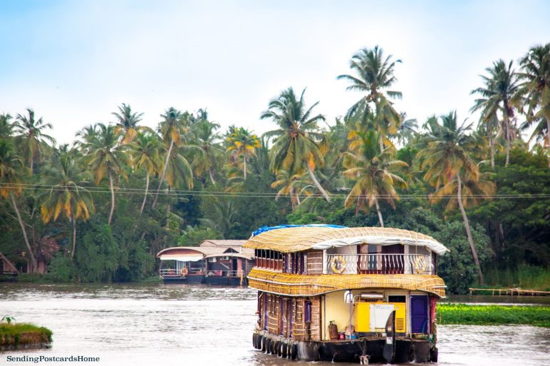 Kerala houseboat Alleppey, Kerala, India - Sending Postcards Home 1
