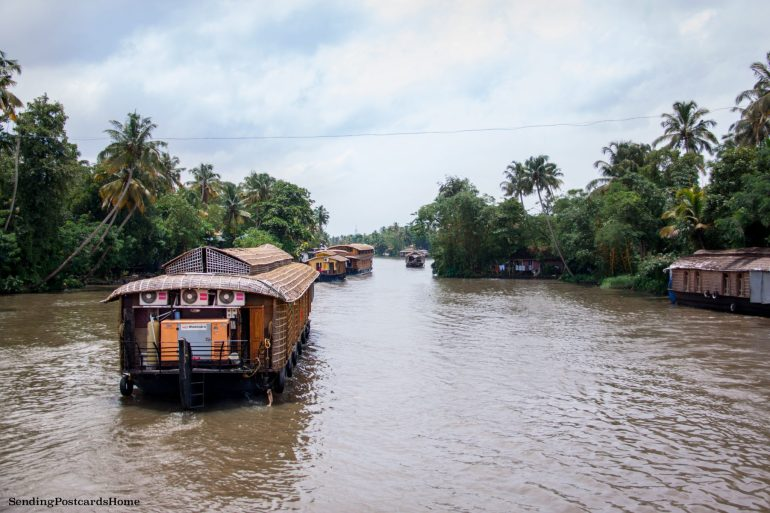 Kerala houseboat Alleppey, Kerala, India - Sending Postcards Home 2