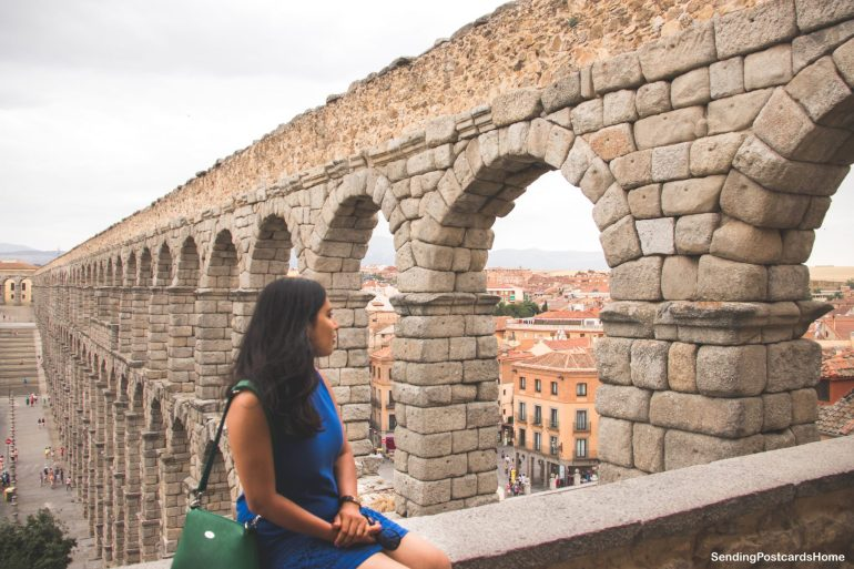 Day trip from Madrid to Segovia, a medieval city, Madrid, Spain - Aqueduct 2