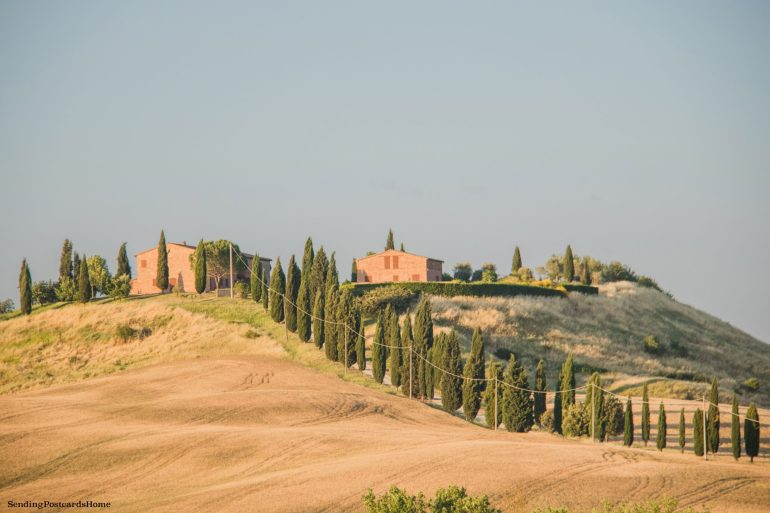 Road trip in Tuscany, Asciano, Italy - Sunset view, Travel blog 10