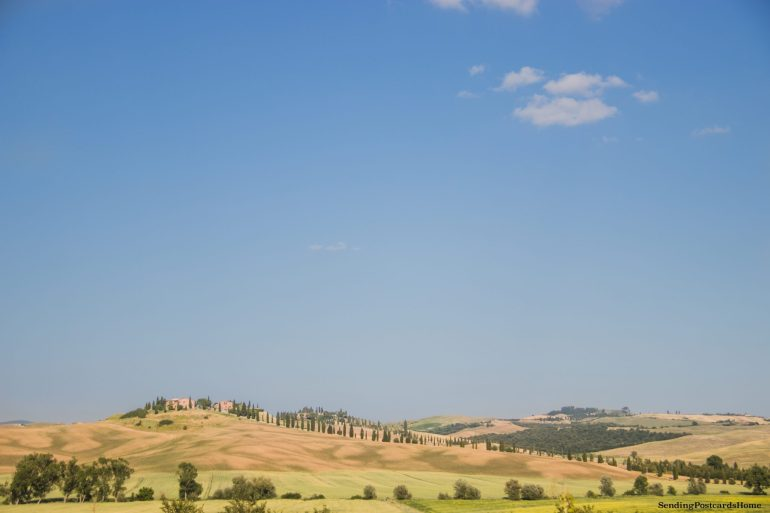 Road trip in Tuscany, Asciano, Italy - Sunset view, Travel blog 13