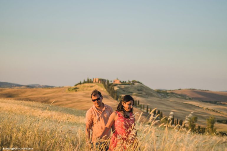 Road trip in Tuscany, Asciano, Italy - Sunset view, Travel blog 7