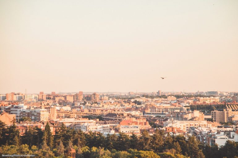 Things to do in Madrid - View of Madrid from Debod Temple, Madrid, Spain - Travel Blog 1