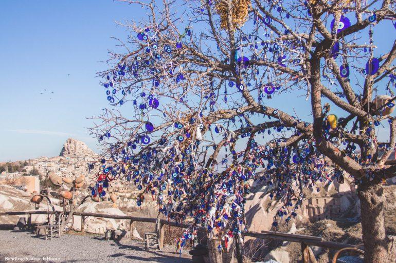 Is Turkey Safe? - Evil eye, Pegion valley, Cappadocia, Turkey - Travel Blog 1