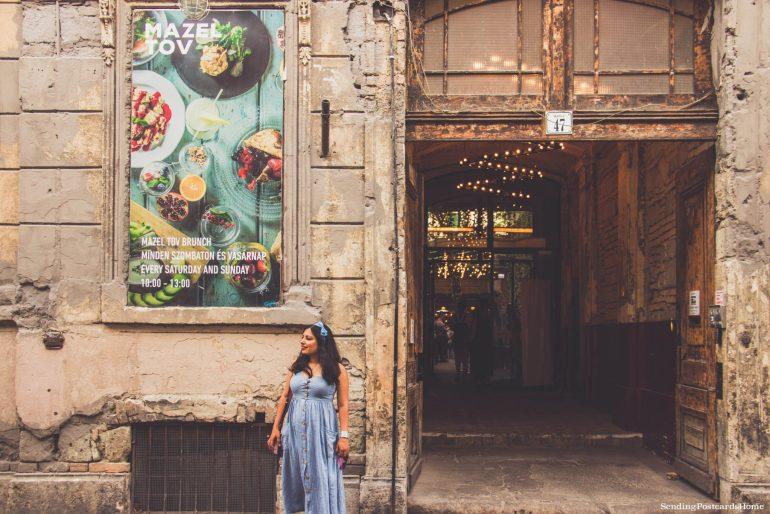 weekend getaway guide to Budapest - Mazel Tov ruin bar Budapest