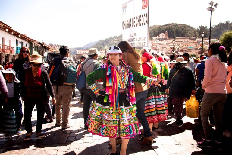Colorful people of Peru