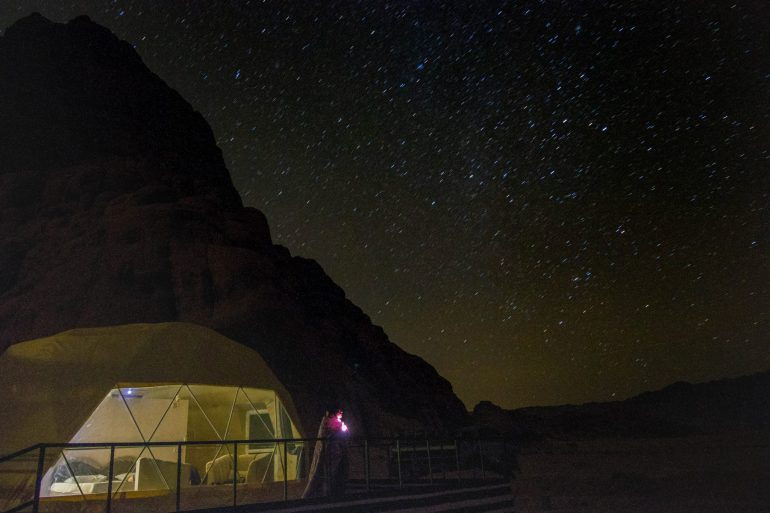 Sky full of stars wadi rum desert