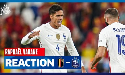 La réaction de Raphaël Varane, Equipe de France I FFF 2021