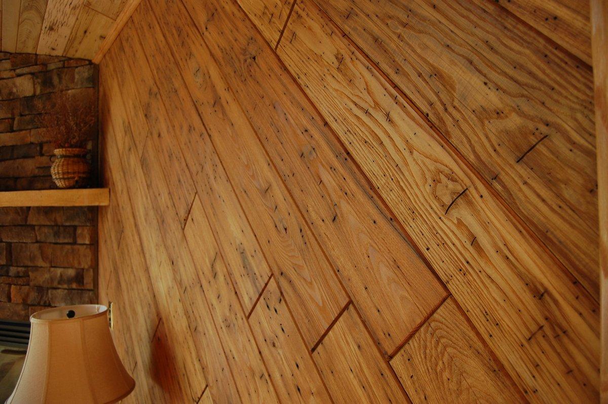 Wormy Chestnut Sourced from Barn Timbers  Seneca Hardwood